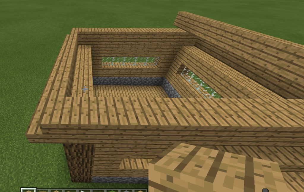 マイクラ 豆腐屋根