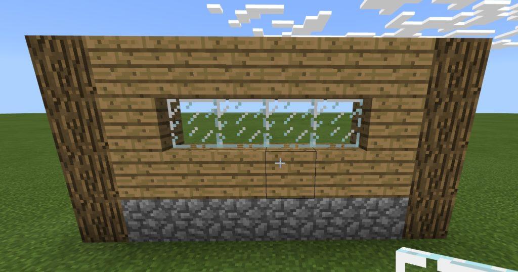 マイクラ 豆腐窓