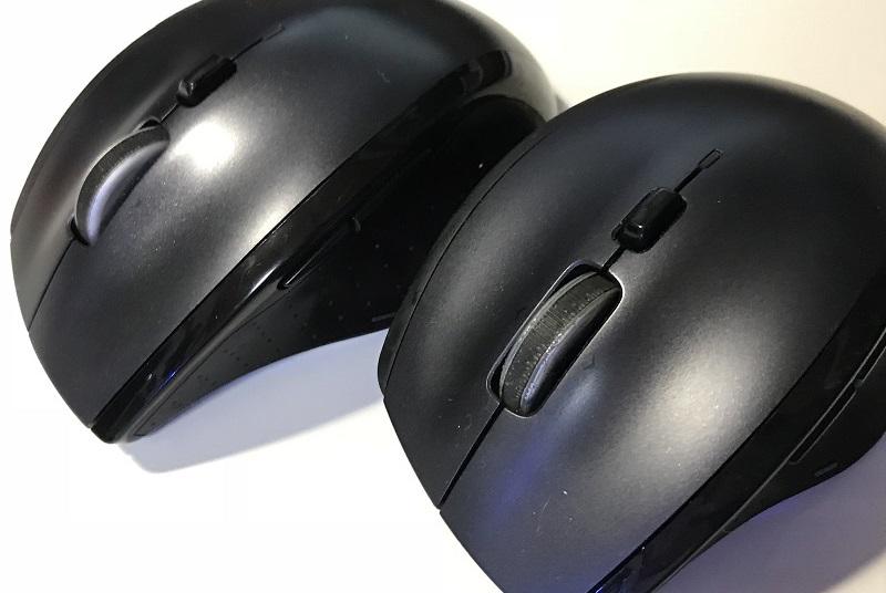 2台の「ロジクールM705」マウス