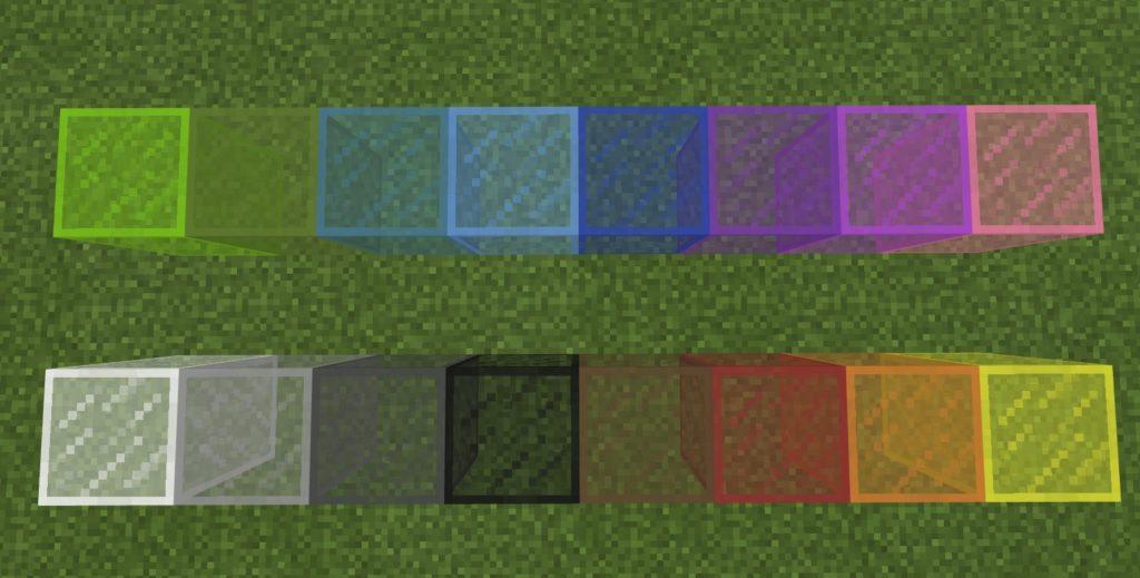 マイクラ 染色ガラス