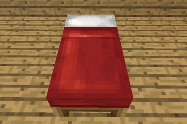 マイクラ 赤ベッド
