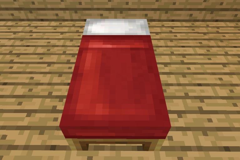 【マイクラ】ベッドの作り方や使い方、注意点など。夜はベッドで寝よう!
