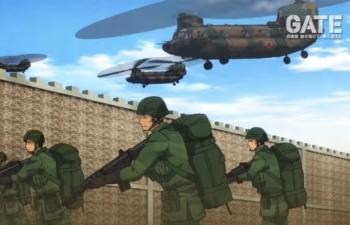 アニメ「ゲート」制圧開始