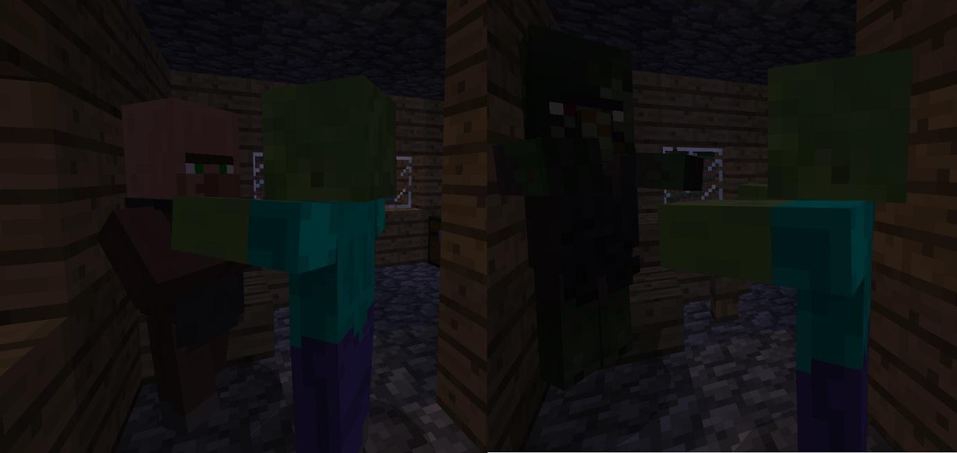 マイクラ ゾンビに襲われる村人