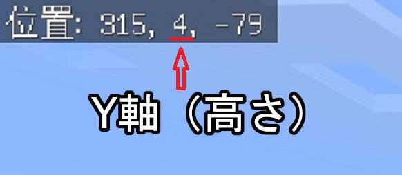 マイクラ 座標軸