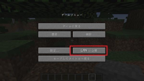 マイクラ LANに公開