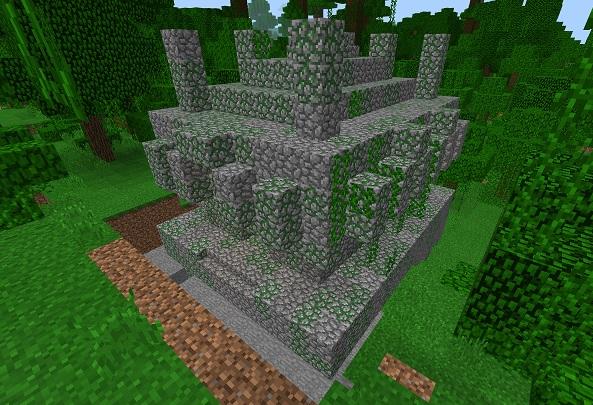マイクラ ジャングルの寺院