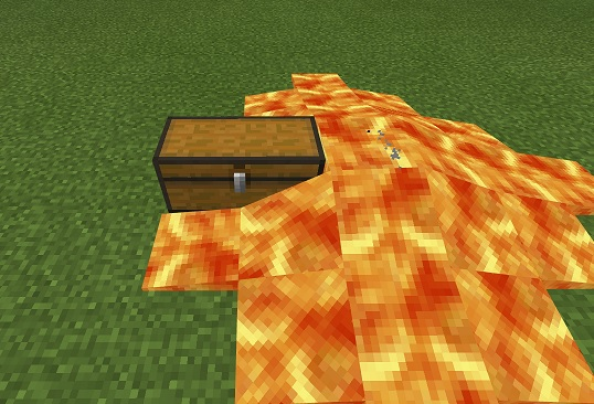 マイクラ 溶岩チェスト