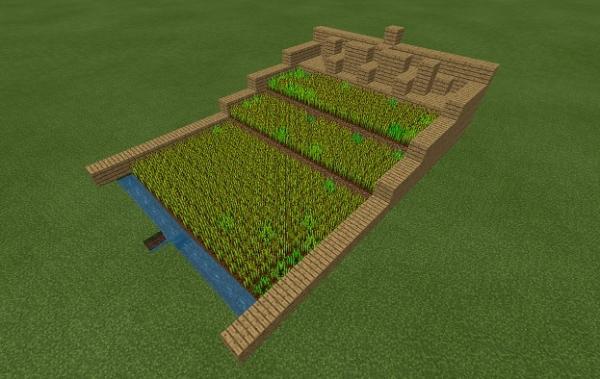 マイクラ 水流式小麦畑
