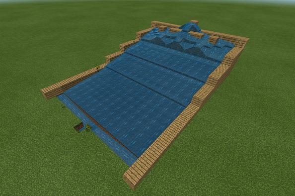 マイクラ 水流式小麦畑放水