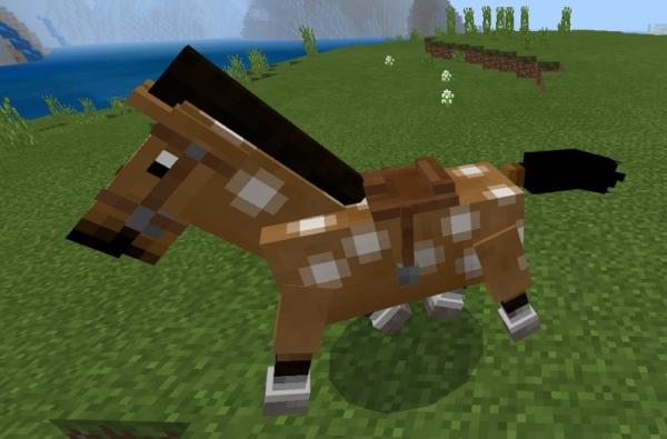 マイクラ 鞍付き馬