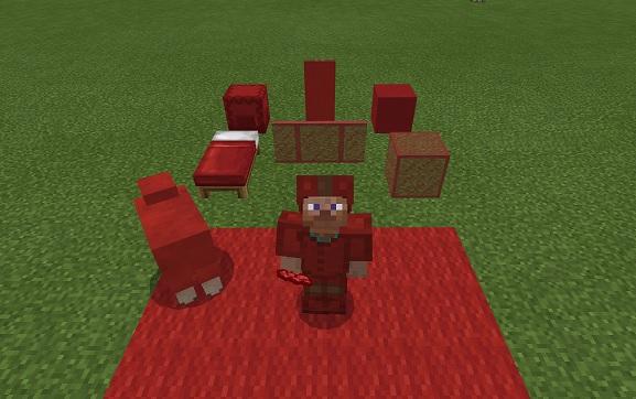 マイクラ 赤色の染色例