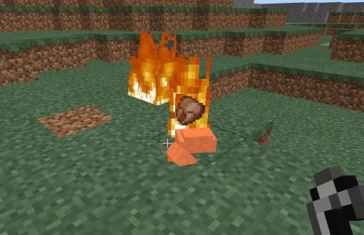 マイクラ 動物燃やす