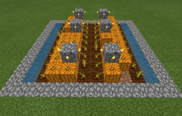 マイクラ カボチャ農場モデル