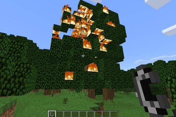マイクラ 木燃やす