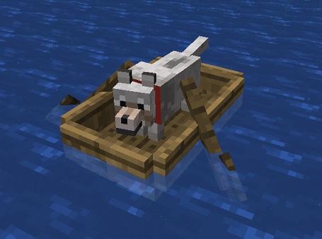 マイクラ オオカミボート