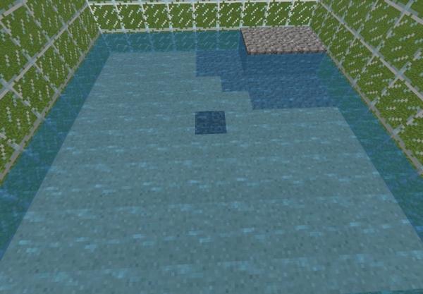 マイクラ 水槽水底