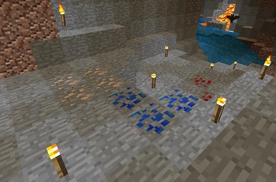 マイクラ 洞窟内鉱石