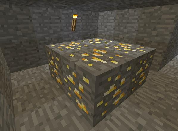 マイクラ 金鉱石群