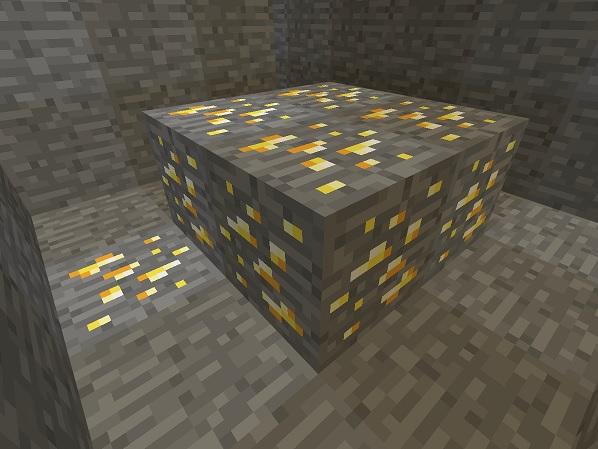 マイクラ 金鉱石裏