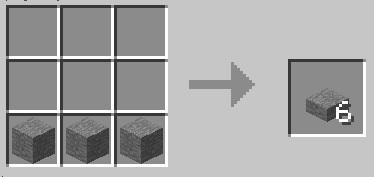 マイクラ 石のハーフブロック