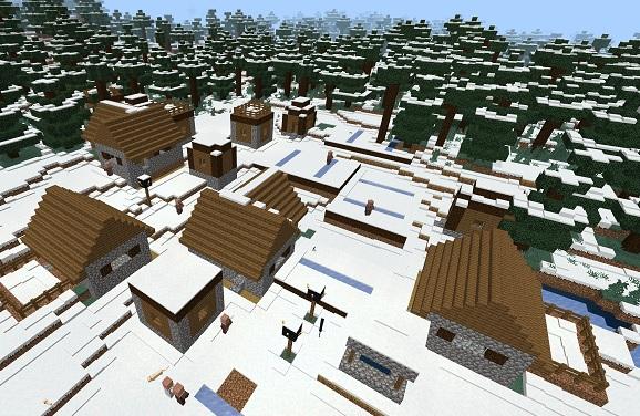 マイクラ 雪タイガの村
