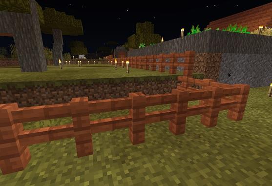 マイクラ 村の柵