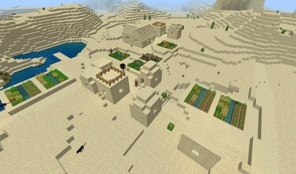 マイクラ 砂漠の村