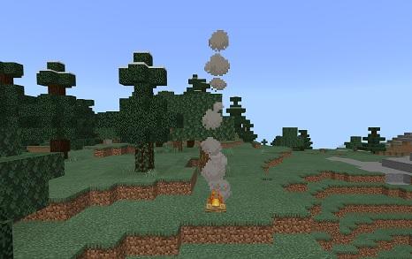 マイクラ 焚き火煙