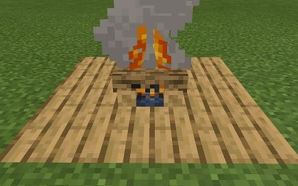 マイクラ 焚き火燃え移らない