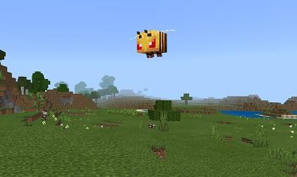 マイクラ 怒ったミツバチ