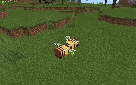 マイクラ 花好きミツバチ