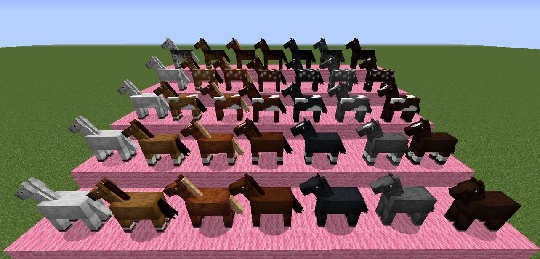 マイクラ 馬の種類