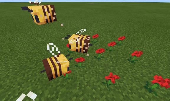 【マイクラ】ミツバチの特性や怒る条件、見つかる場所などを解説!