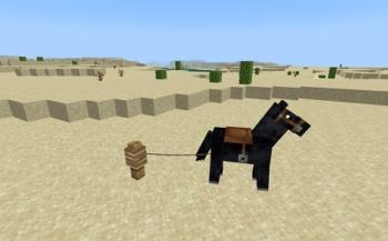 マイクラ 馬とリード