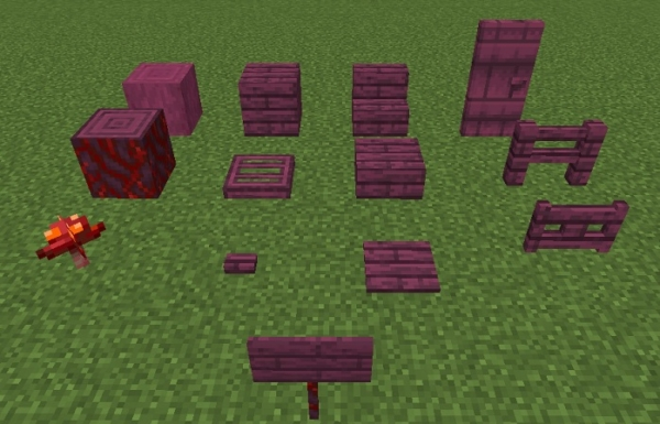 マイクラ 真紅の木一覧