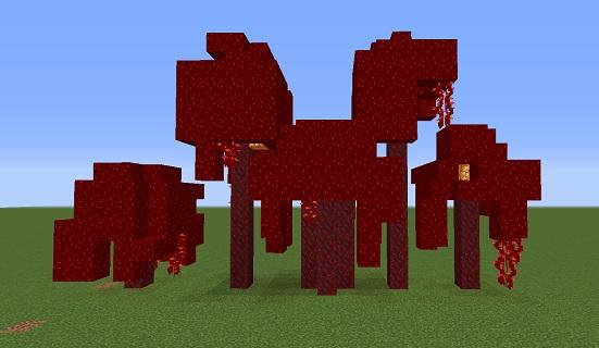 マイクラ 真紅の木
