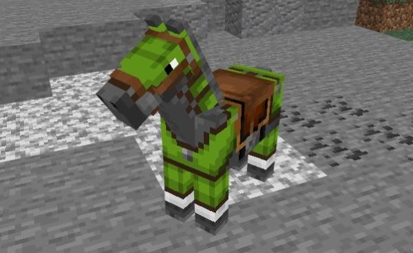 マイクラ 染色革の馬鎧