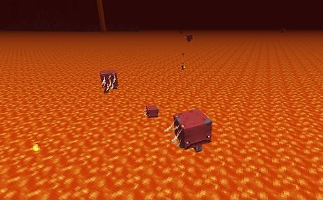 マイクラ 溶岩を歩くストライダー