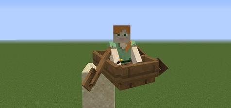 マイクラ ボート落下
