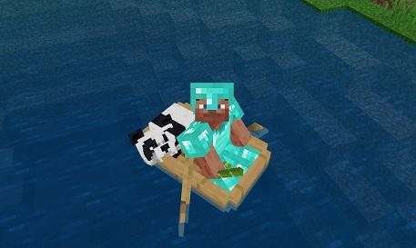 マイクラ パンダのボート運搬