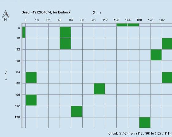 マイクラ スライムチャンク、座標0,0