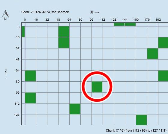 マイクラ スライムファインダーの見方その2A