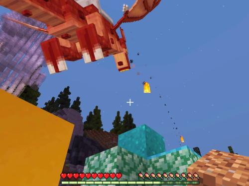 マイクラ 世界テンプレート Dragons(ドラゴン)、火を吐くドラゴン