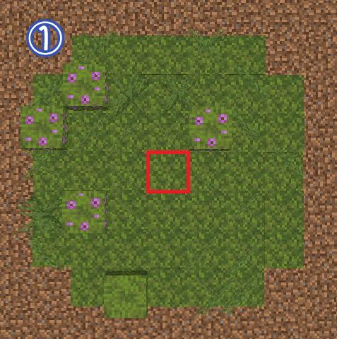 マイクラ 苔ブロックの広がる範囲1