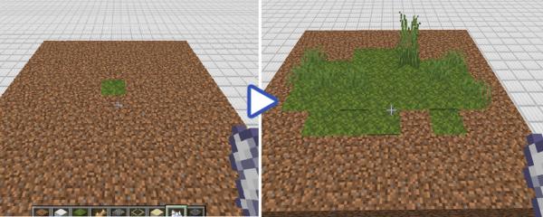 マイクラ 苔ブロックに骨粉を使用