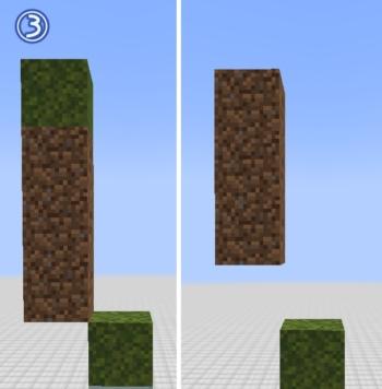 マイクラ 苔ブロックの広がる範囲3