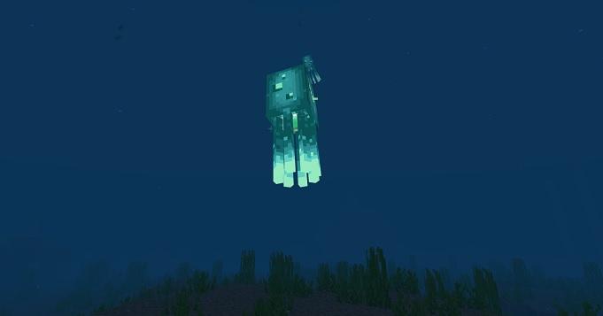 【マイクラ】発光するイカ(ヒカリイカ)の特徴や出現条件など