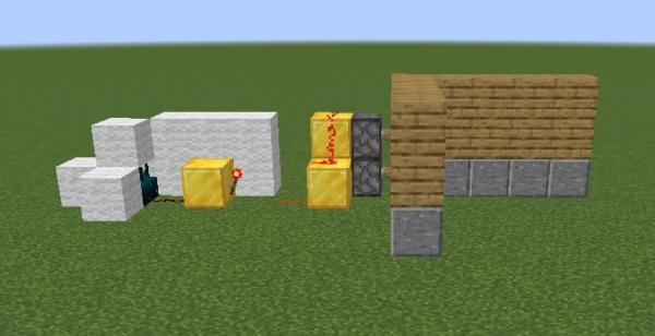 マイクラ スカルクセンサーを用いた回路例