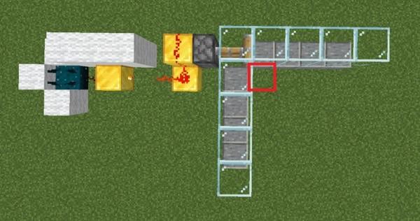 マイクラ スカルクセンサーを用いた回路例2